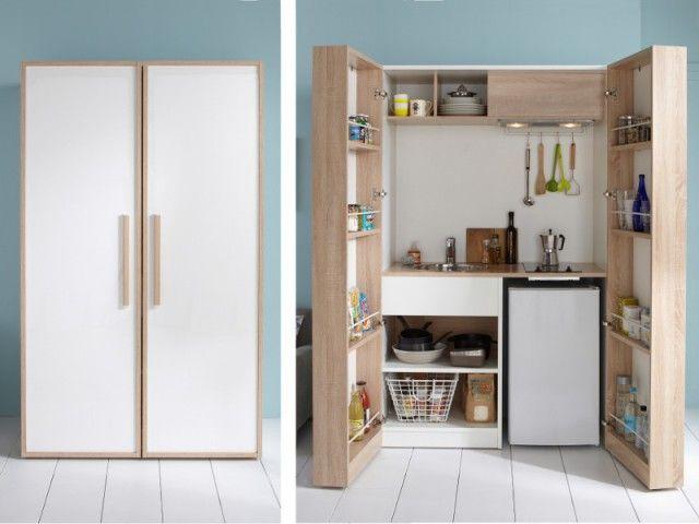 am nager une cuisine dans moins de 6 m2 c 39 est possible deco pinterest armoires tenues. Black Bedroom Furniture Sets. Home Design Ideas