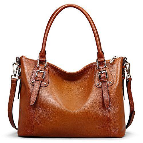 Ainimoer Womens Large Genuine Leather Vintage Shoulder Handbags Ladies Tophandle Purse Cross Body Bagsorre Genuine Leather Totes Soft Leather Tote Leather Tote