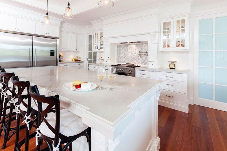 Best View 20Mm Caesarstone Calacatta Nuvo Kitchen With 400 x 300