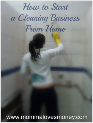 a cleaning business is a low cost startup that any mom can run from home