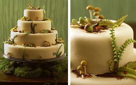woodland theme wedding cakes Trends of 2009 Nature Inspired