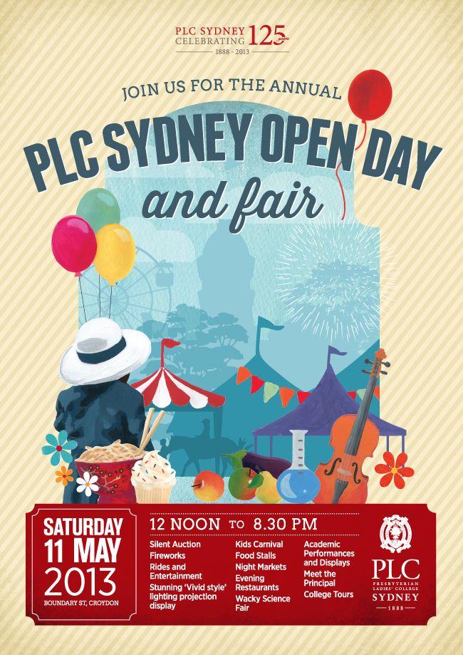 Plc Sydney Open Day And Fair Poster Brosur Desain Ide