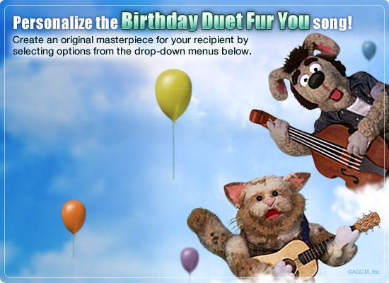 Birthday Ecards American Greetings ~ Birthday duet fur you video ecard personalized lyrics happy