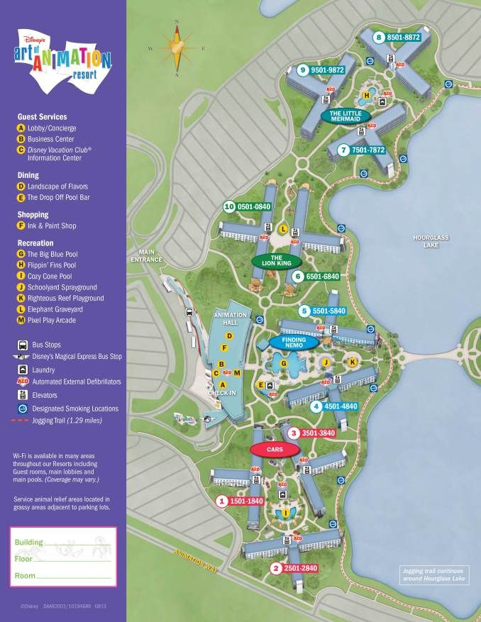 Art of Animation Resort Map | Disney art of animation, Walt ...