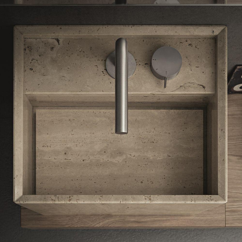 lavabo da appoggio in pietra naturale dal design moderno | novello ... - Arredamento Moderno Naturale