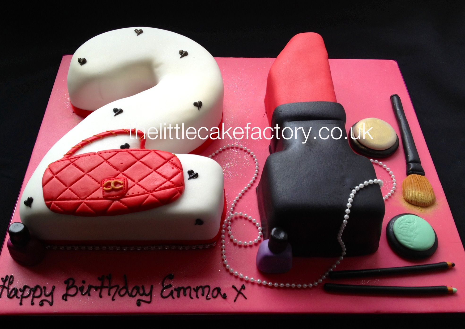 21 Number Birthday Cake With Images 21st Birthday Cakes