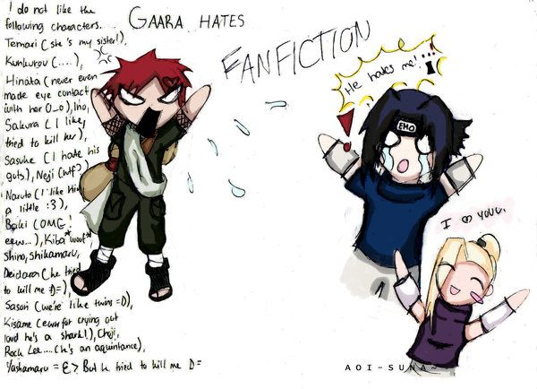Gaara hates fanfiction | Normal Things Every thing | Gaara