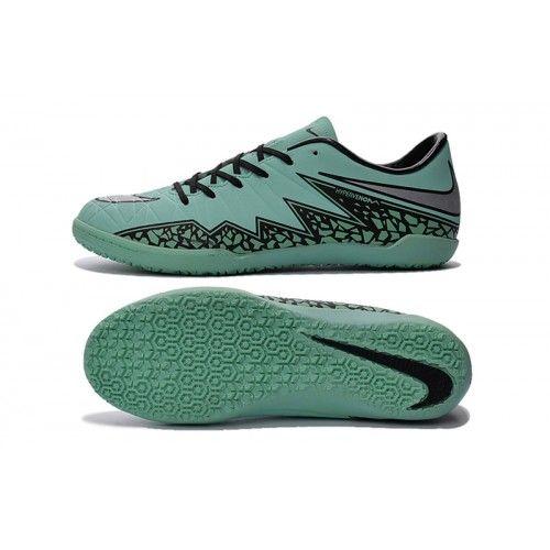Botas de fútbol Nike Hypervenom Phelon II IC para hombre de color verde negro plata