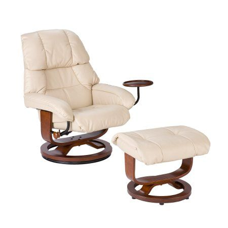 Amazon.com   Southern Enterprises High Back Leather Recliner And Ottoman,  Taupe   Ekornes Stressless Recliner