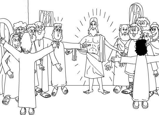 Dibujos Para Colorear La Pasión Muerte Y Resurrección De Jesús