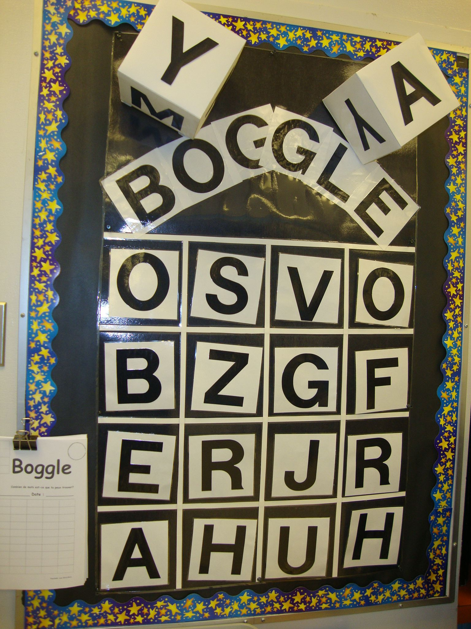 Free Time Boggle Board In My Classroom Urtesy Of K B