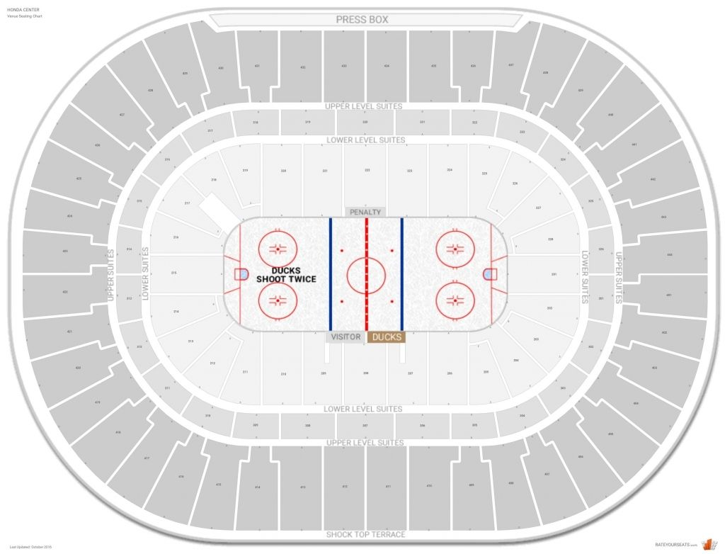 The Most Awesome Honda Center Seating Chart With Rows Di 2020