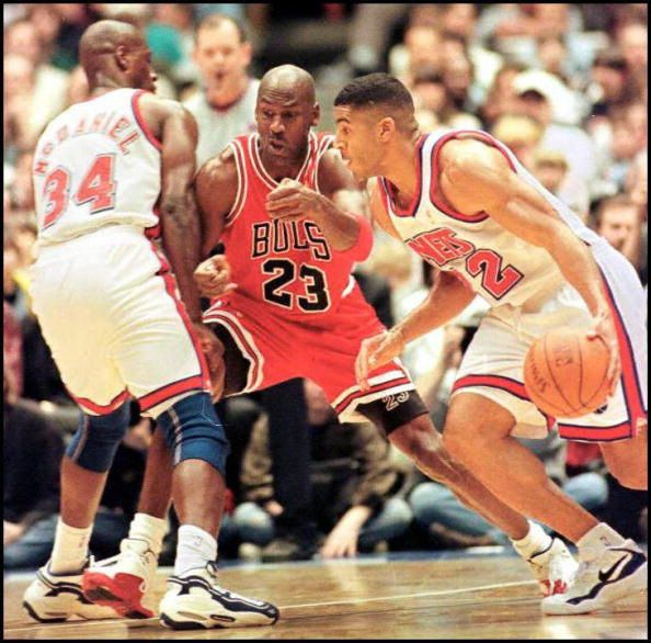 During the 1996-1997 season, while Jim Jackson was w/ the Nets, Jackson was enjoying a good game against Michael Jordan and the defending champion Chicago Bulls. Jackson was talking trash to Jordan who shut up Jackson by pointing out that he was wearing Jordans.