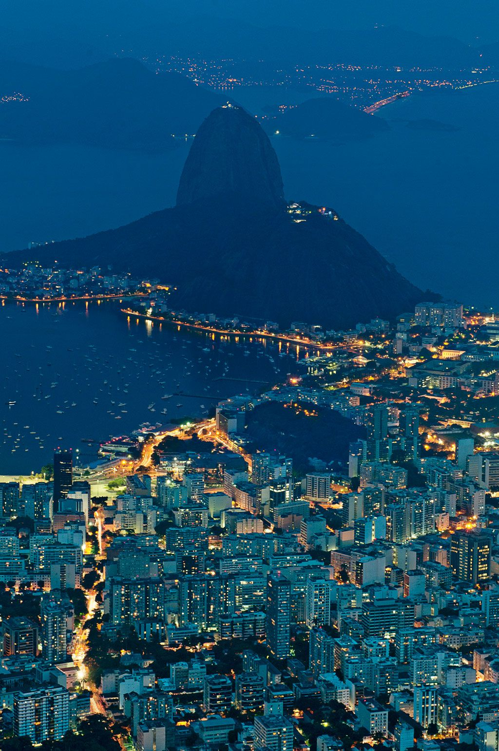 Rio pictured from its most famous landmark, Christ the Redeemer, Brazil.