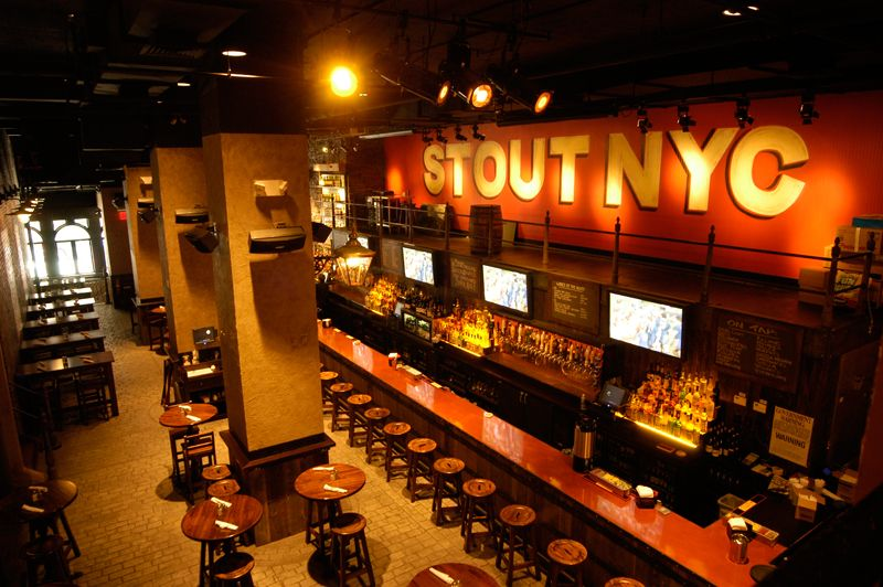 Stout Overpriced pub but has a lot of options and