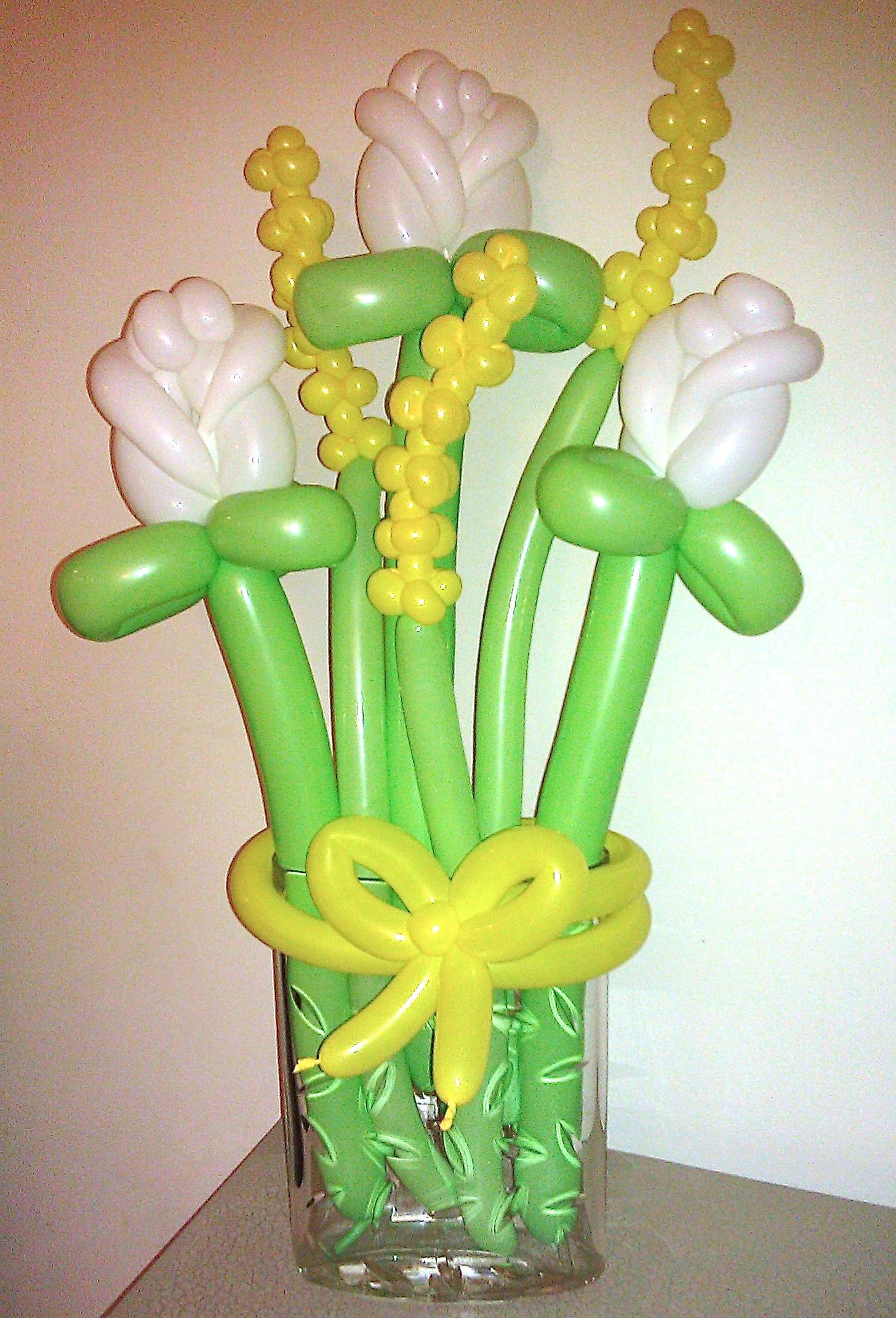 Balloon flower bouquet flowers цветы из шаров
