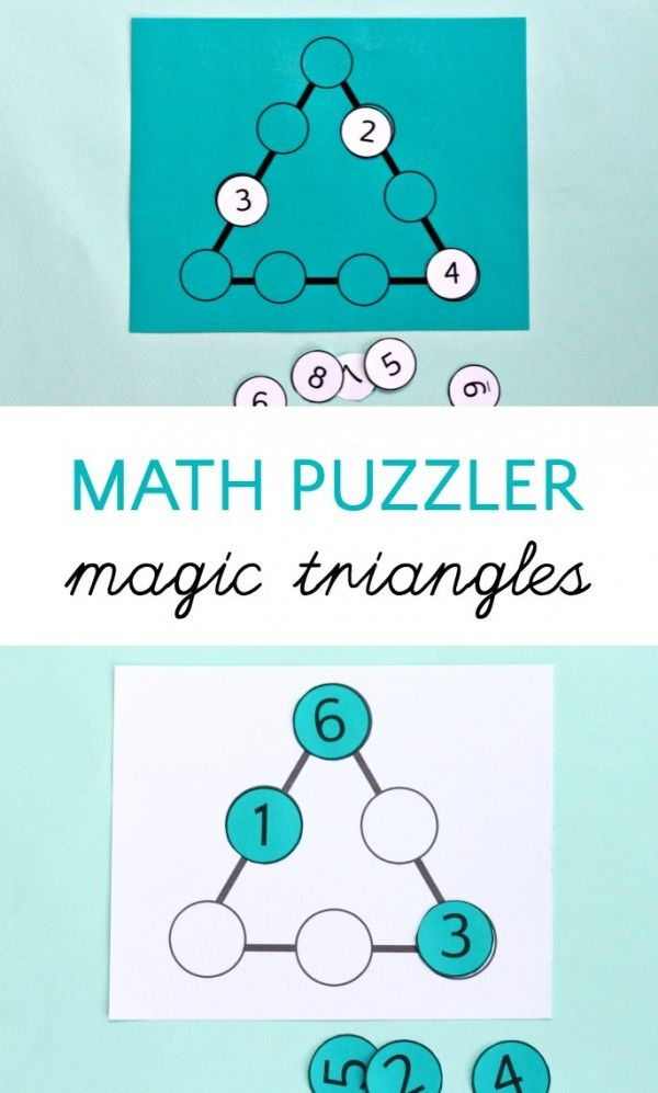 Can Your Kids Solve the Magic Triangle Math Puzzle? | Maths ...