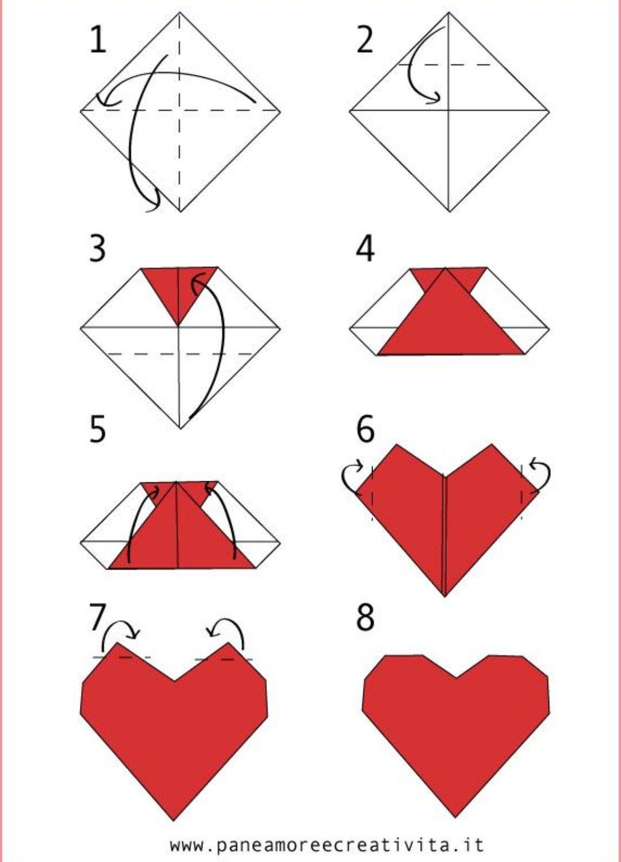Открытки сердечки оригами, свадьба