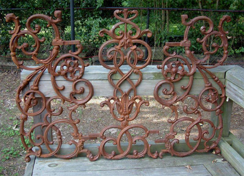 Details About New Large Pontalba Panel Cast Iron Garden Railing Gate Decor Wrought Yard Art Garden Railings Cast Iron Fence Wrought Iron Fences