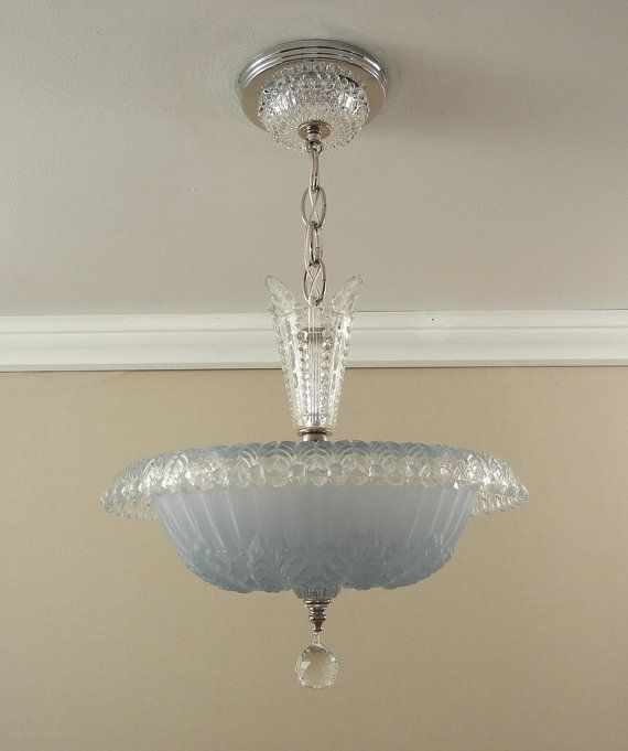 Vintage Chandelier 1930 S Antique Art Deco By Vintagegllights This Light Is Very Pretty Just Don T Like The Stem