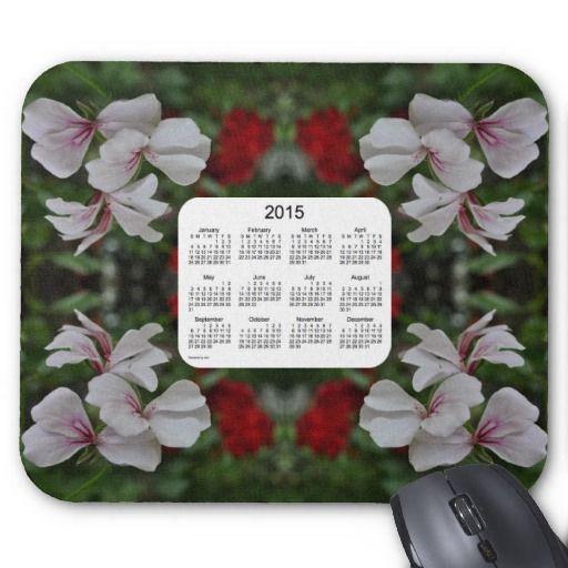 Peppermint Geranium 2015 Calendar Mouse Pad from Calendars by Janz $12.35