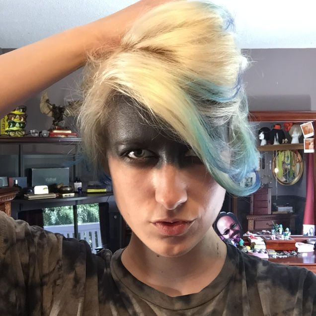 Too Much, Girl Ridiculous Mad Max Makeup You Can Only Wear in - ridiculous halloween costume ideas