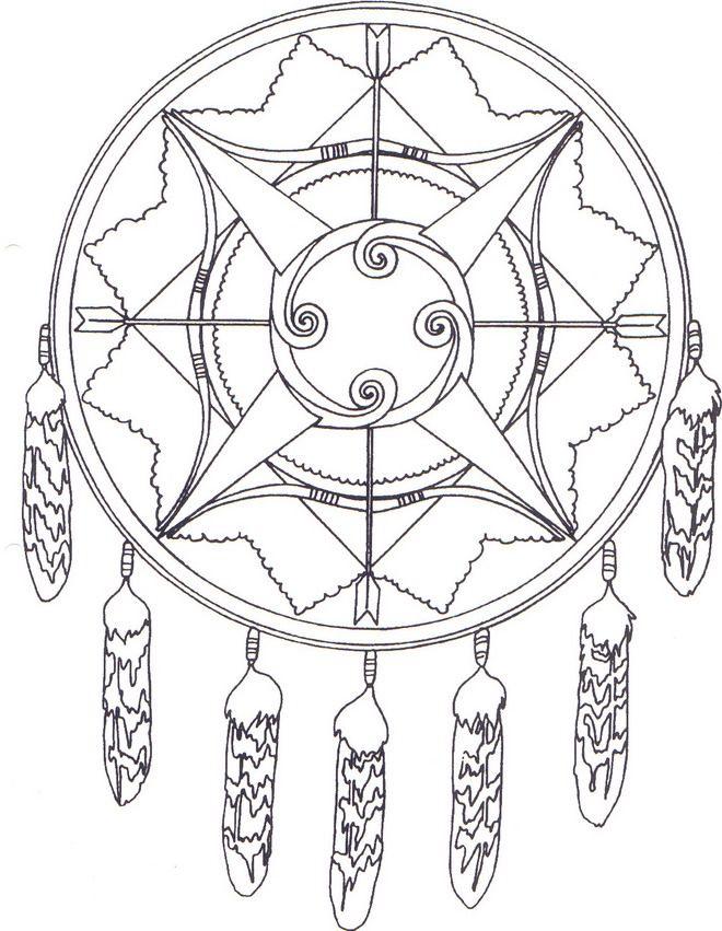 Coloring Page Native Americans Native Americans Mandala