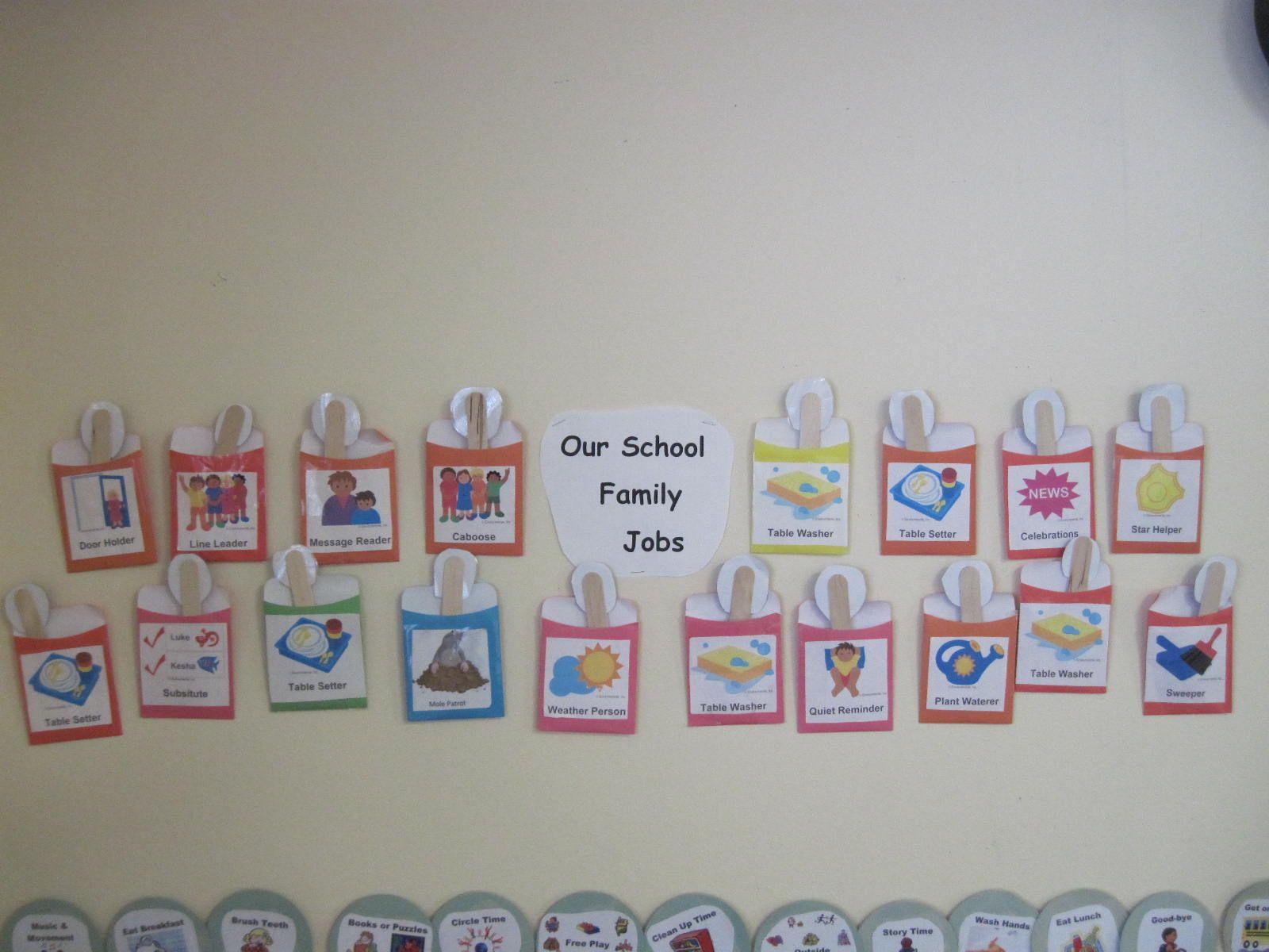 Mrs. Darcey's School Family Jobs jobs provide