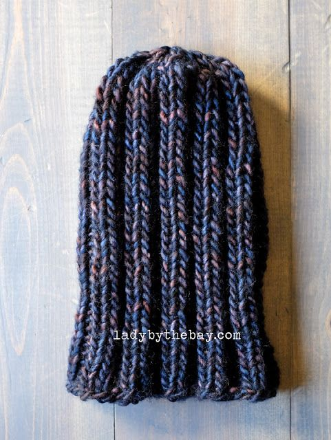 Simple Ribbed Beanie Knitting Pattern | hats | Pinterest