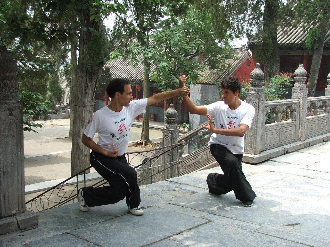Practicando en el Templo Shaolin junto a Walter Mercuri