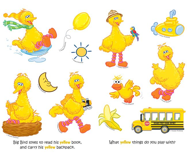 sesame street big bird s yellow stickers dover publications clip rh pinterest ca Sesame Street Clip Art baby big bird clip art