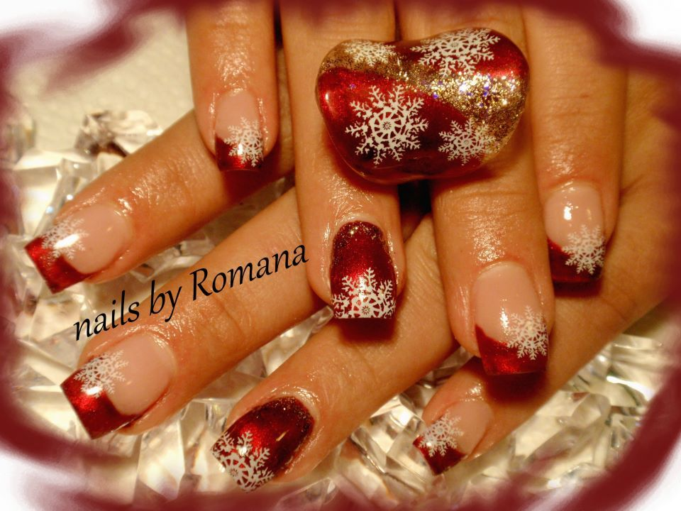snowflakes christmas #nail #nails #nailart | Gotta get them nails ...