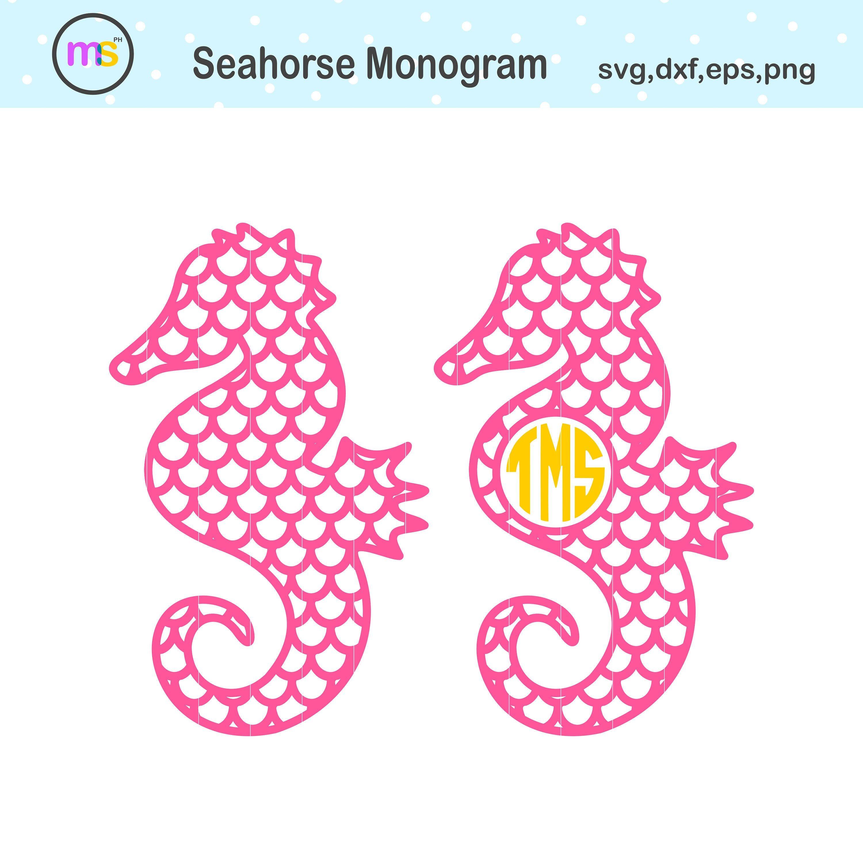 Seahorse Monogram Svg Seahorse Monogram Seahorse Svg Etsy Monogram Svg Prints Crown Clip Art