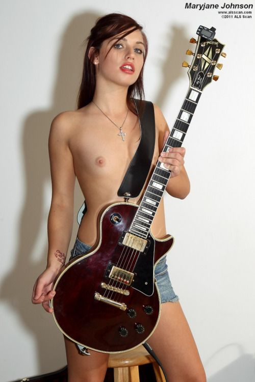 Girl having sex with guitar accept. interesting