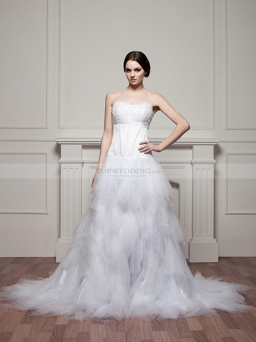 Swan lake inspired beaded satin and tulle wedding dress swan lake