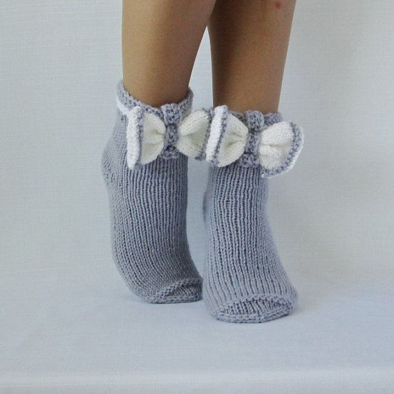 Socks butterfly. Gray socks. Woman socks. Knit socks. Hand knit socks.  Birthday! Valentine's day! Gift Ideas.