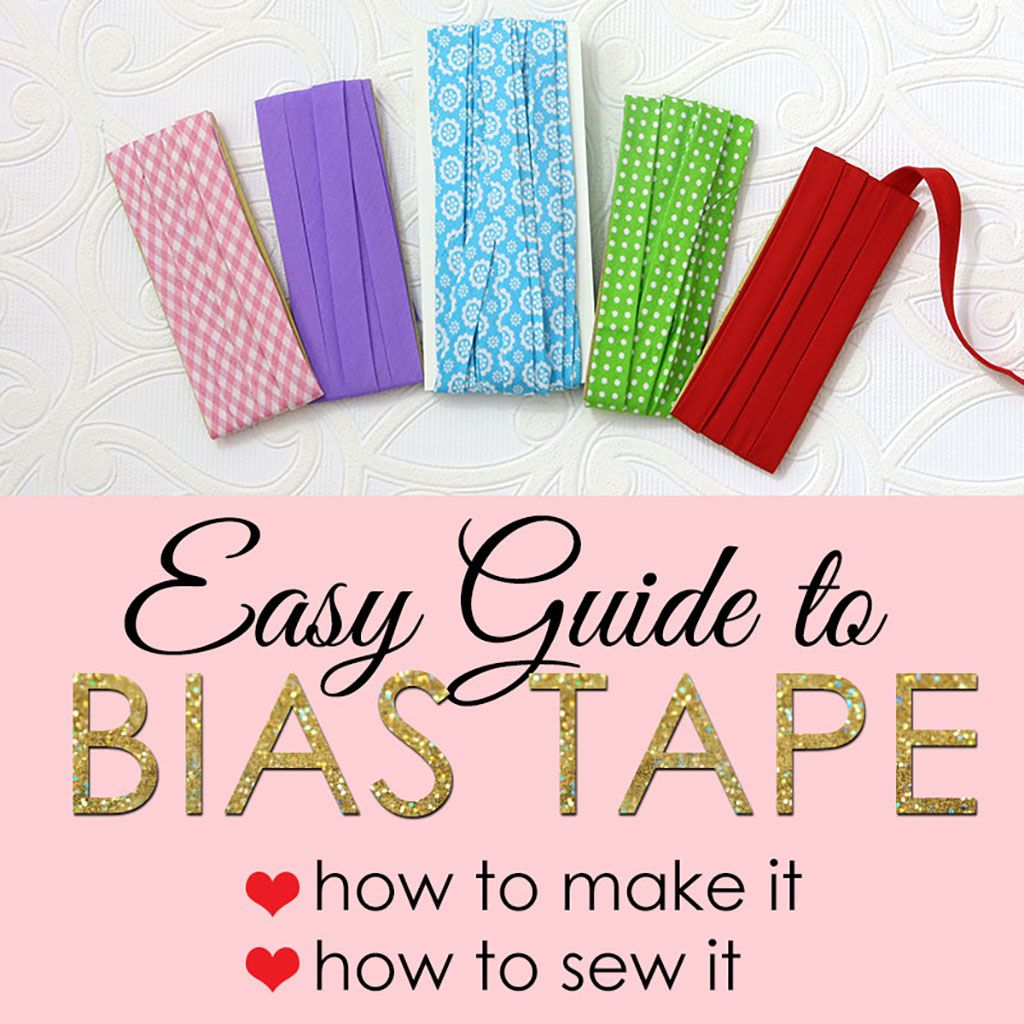 Bias Tape, Sewing For Beginners, Sewing