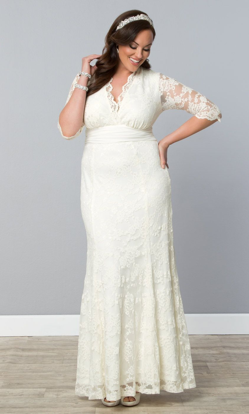 415b1315880 Start your forever in our plus size Amour Lace Wedding Gown. www.kiyonna.com   KiyonnaPlusYou  MadeintheUSA  Bridal
