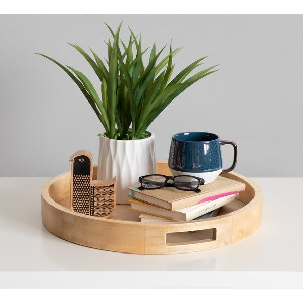 Place This Beautiful Wooden Tray On The Coffee Table To Showcase A Vase Of Flowers Or On The Dining Coffee Table Tray Round Wood Tray Coffee Table Centerpieces
