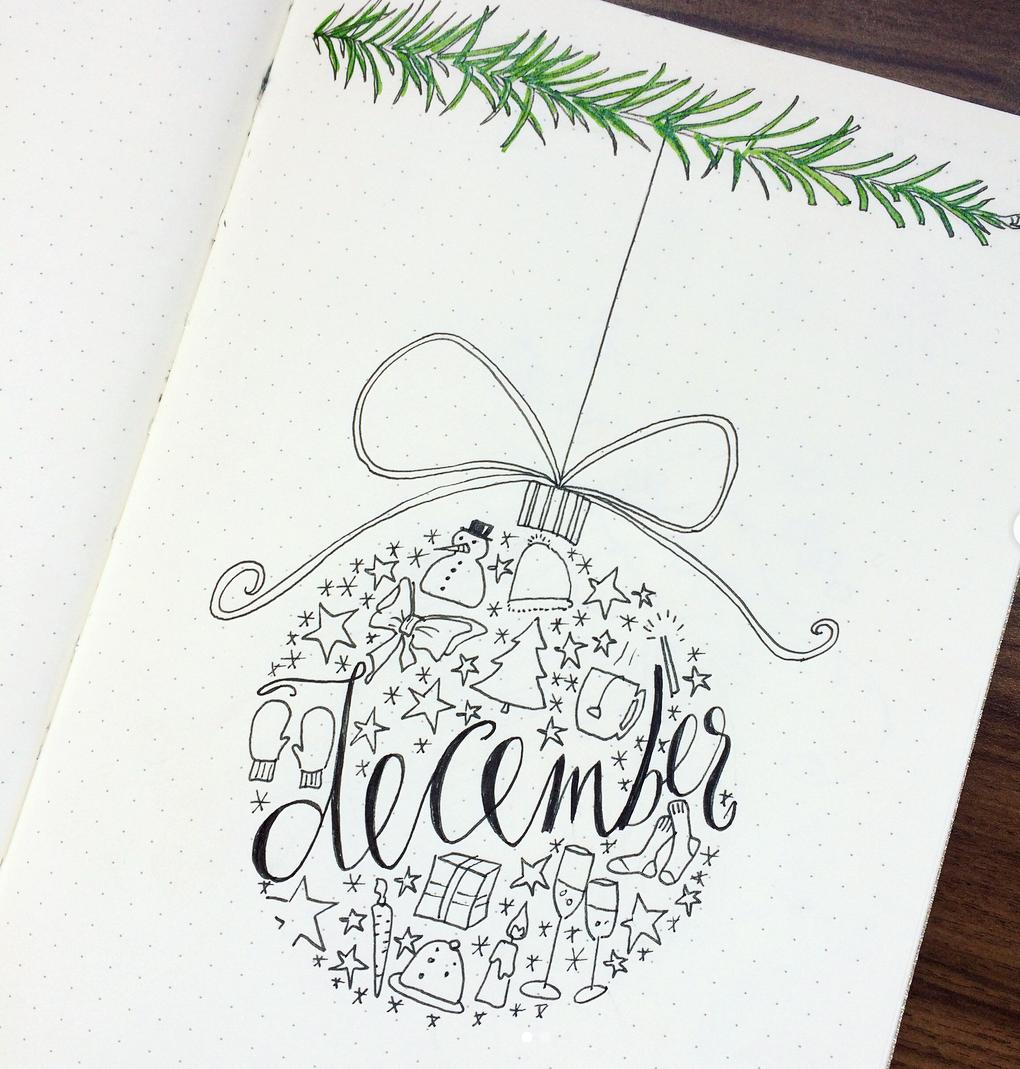 Christmas Bullet Journal Doodles — Sweet PlanIt #bulletjournaldecember