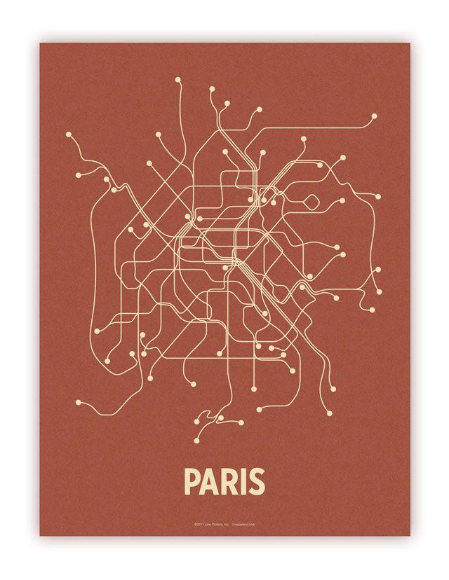 Subway Map Wall Art Endpoints.Minimalist City Transit Map Posters Credit 3 Paris Map Map Map