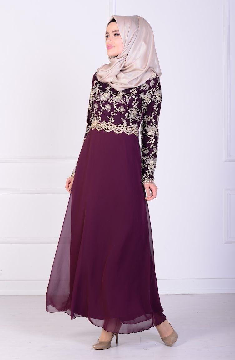 En Guzel Tesettur Dantelli Abiye Modelleri Elbise Elbiseler Elbise Modelleri