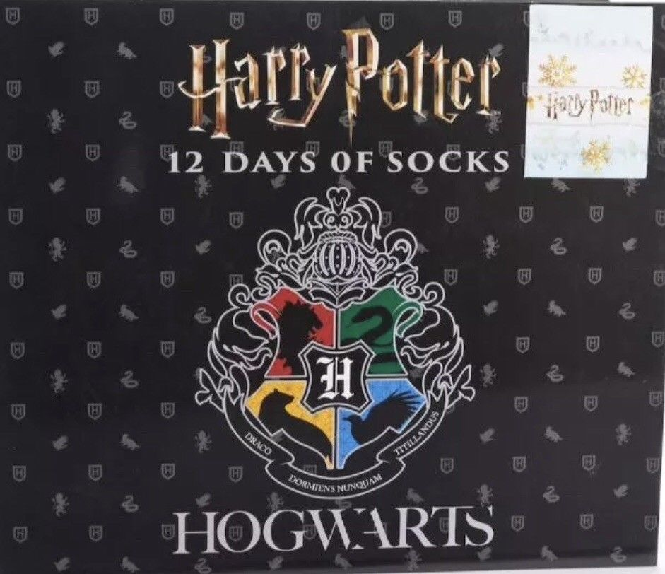 Details about new mens harry potter 12 days of socks