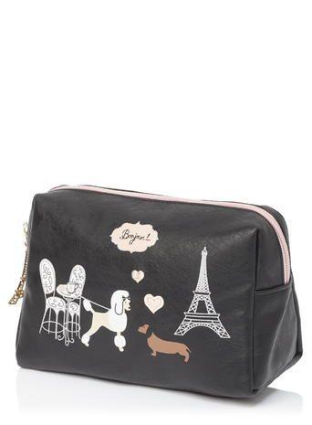 Black Arthur And Fifi Make Up Bag