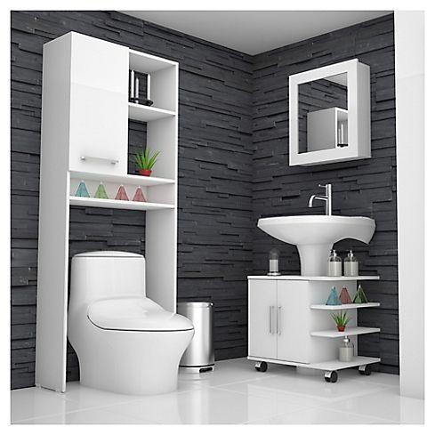Combo botiqu n 47 mueble bajo lavamanos 55 estante 27 for Bajo gabinete tocador bano de madera