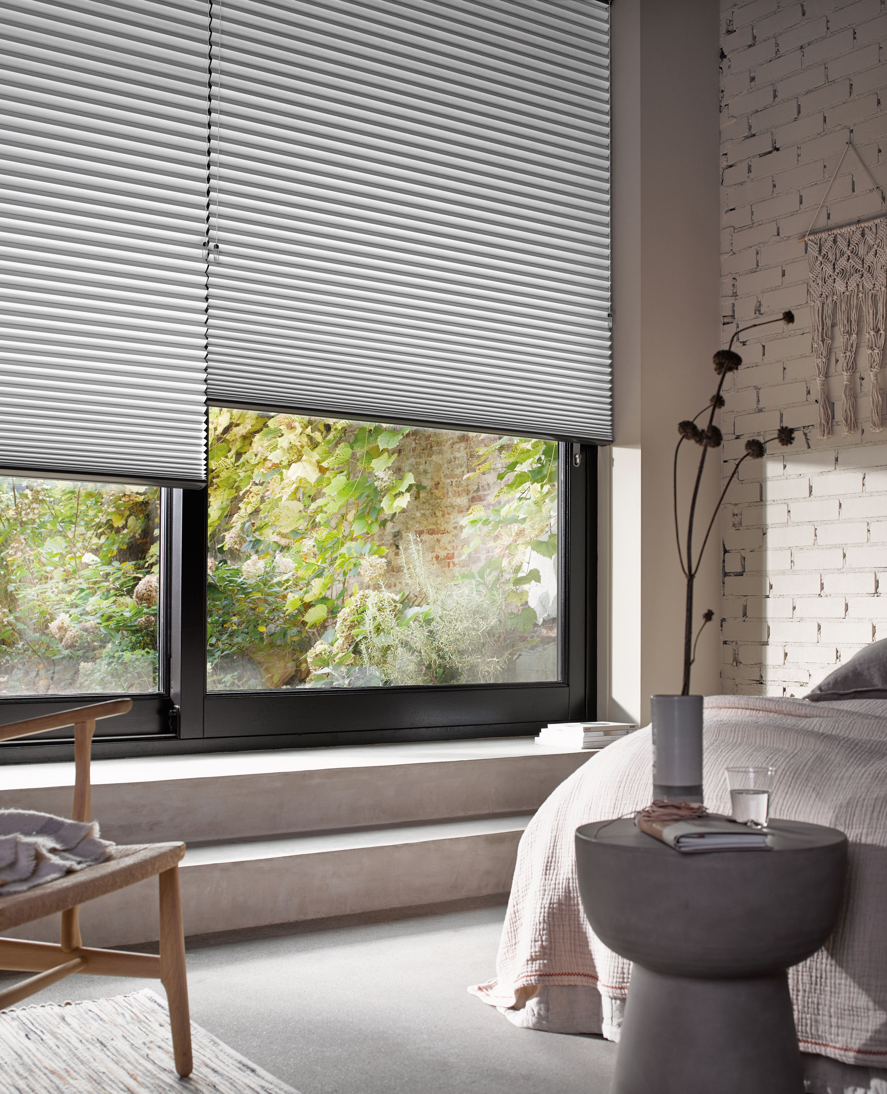 Duette blinds for privacy bedroom grey calm window