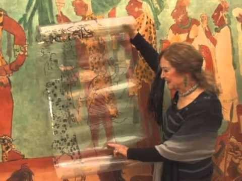Rina Lazo Pintura Murales De Bonampak Foto Intenet Video De