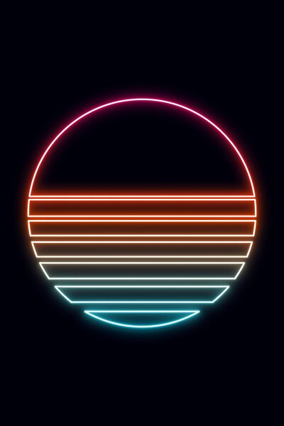 An Awesome Retro Sun With Am Eighties Vibe Neon Wallpaper Neon Light Wallpaper Neon Painting