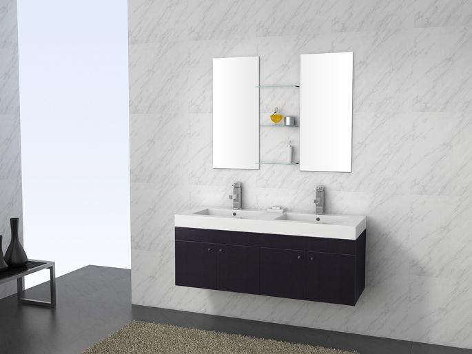 meuble de salle de bains manhattan noir laque double vasques 2 lavabo http