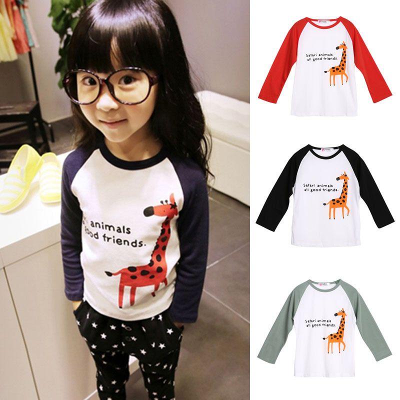 a788e9dd78 1-6Y Toddler Kids Baby Boys Girls Clothes Cute Animal Long Sleeve T-shirt